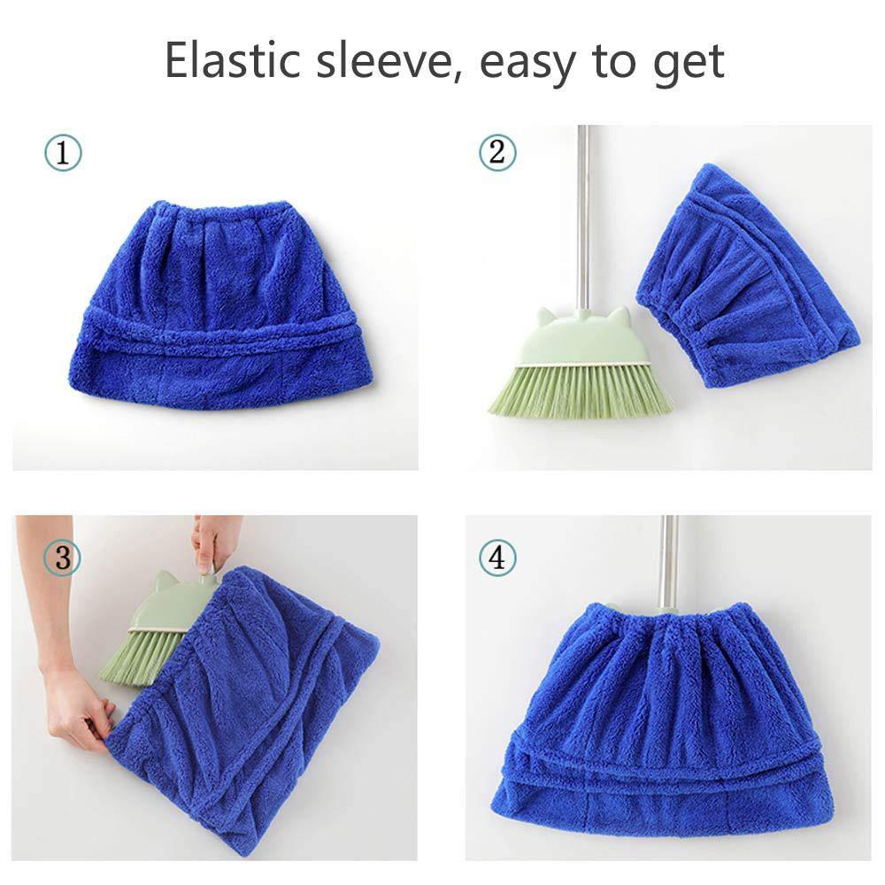 con Ventosa de Agua Dulce y pa/ño h/úmedo y seco para Oficina en el hogar Womdee Mopa para Mujer Lavable Azul//Rosa//caf/é//Morado