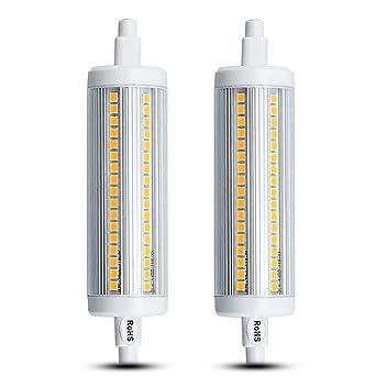 Lustaled 20W R7S 118MM LED J118 Bombilla Con 1800 Lúmenes 360 Grados para Luz de Pie