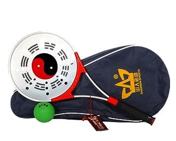 ShanRen deportes pelota de resistencia blanda Rouli raqueta con diseño de Tai Chi con raqueta de 1, 1 pelota hinchable y 1 bolsa: Amazon.es: Deportes y aire ...