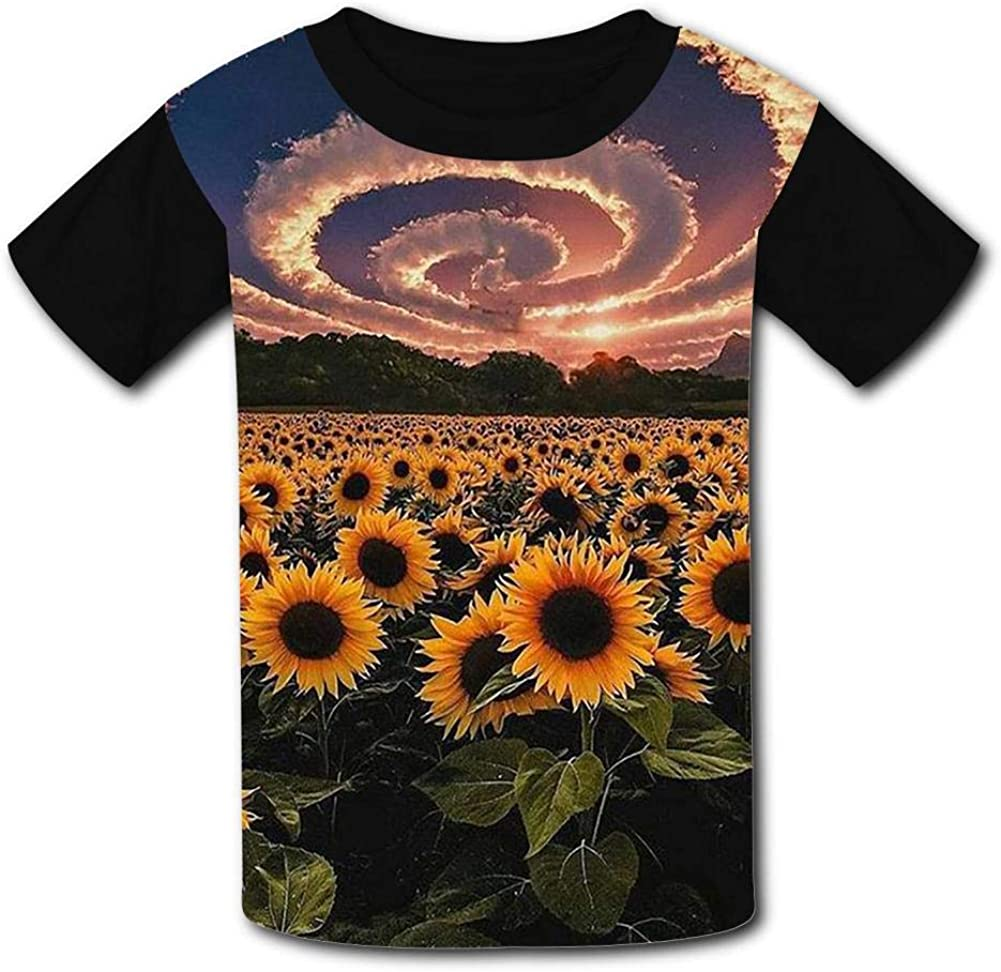 Magic Sky Anemone Summer T-Shirt Childrens Fashion Simple and Comfortable
