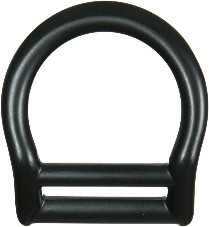 Fusion Climb Bent Aluminum Slotted Light Weight D-Ring for 1 3//4 Webbing Matte Black 5-Pack