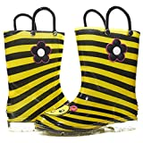 kids bee rain boots - Sara Z Toddler Girls Printed High Cut Puddle Proof Rain Boots Bee Yellow/Black Size 11/12