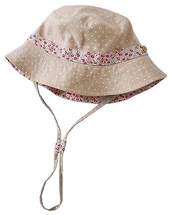 La Vogue Chapeau De Soleil Bob Enfant Fille Pêche Coton Cordon  Tour44-54cm(48CM 7baf1b9de71