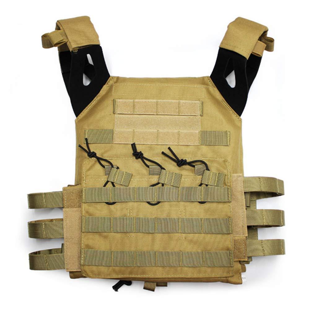 LXY&AI Armee Fan Taktische Weste - Cs Feldschutz Schutzausrüstung - Commando Kampf schwarz Hawk Taktische Weste - Abnehmbare Tasche Outdoor Dschungel Weste - Schwarz