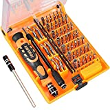 aceyoon Screwdriver Bit Set 52 in 1 Small Precision Screw Driver Kits with Mini Wrench Magnetic Torx, Phillips, Flathead Tool Bits Compatible Toy Aircraft, iPhone, iPad, Tablets, PC, Drone