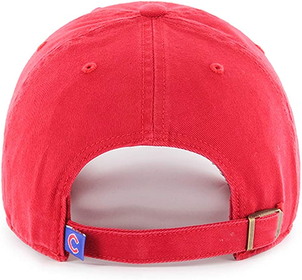 47 Brand Chicago Cubs Clean Up Hat Cap Red//Royal