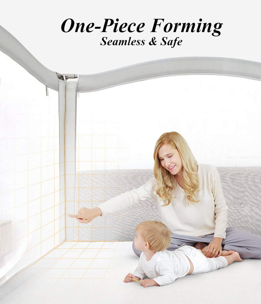 Anti-Falling Bed for Baby/Toddler/Children, Guardrail Heightening Crib, Anti-Drop Bed Guardrail, Child Shatter-Resistant Fence, Baby Bed Fence … (1.8m(70.9'') Width) by YU KEN (Image #4)