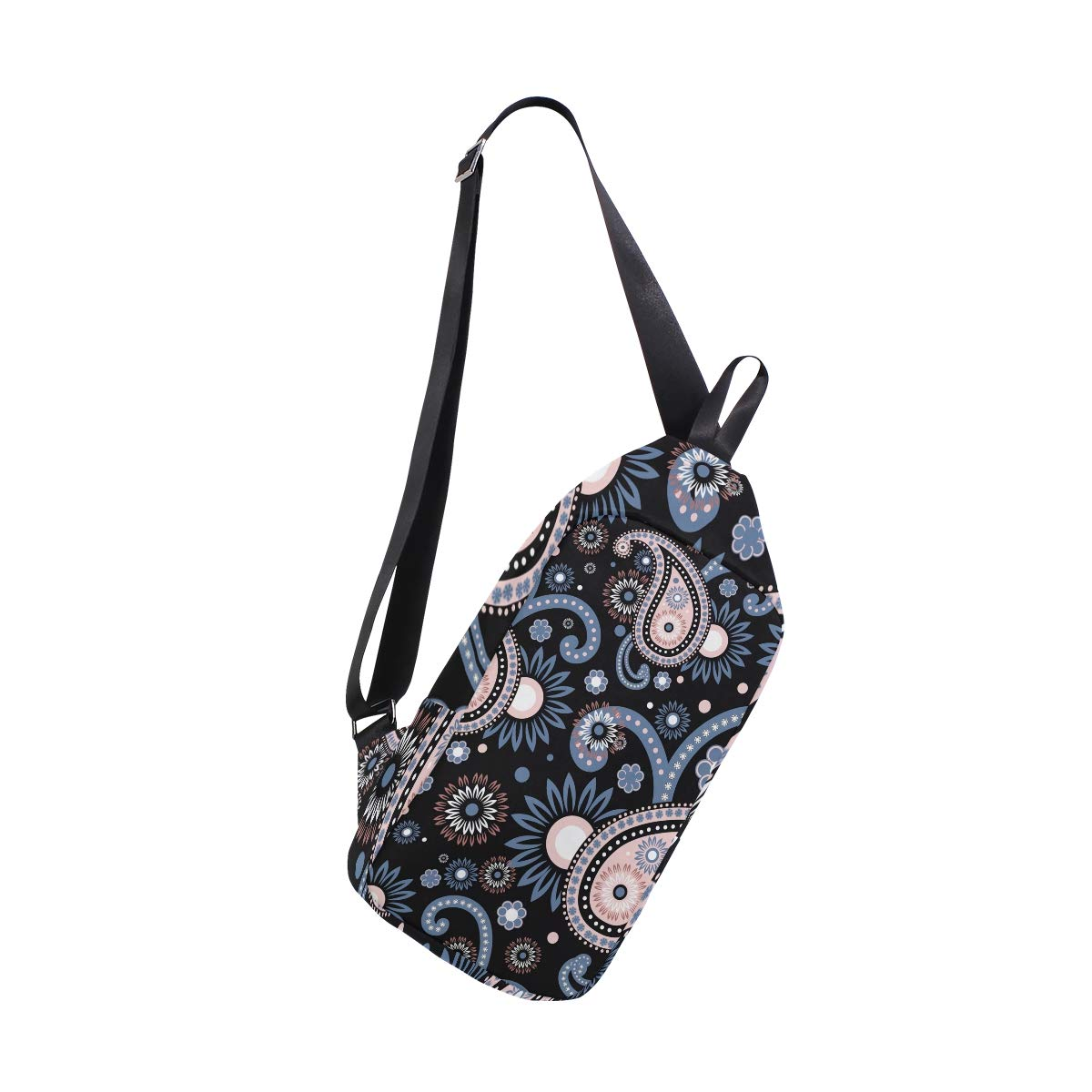 TFONE Ethnic Paisley Flower Crossbody Bag Lightweight Chest Shoulder Messenger Pack Backpack Sling Bag