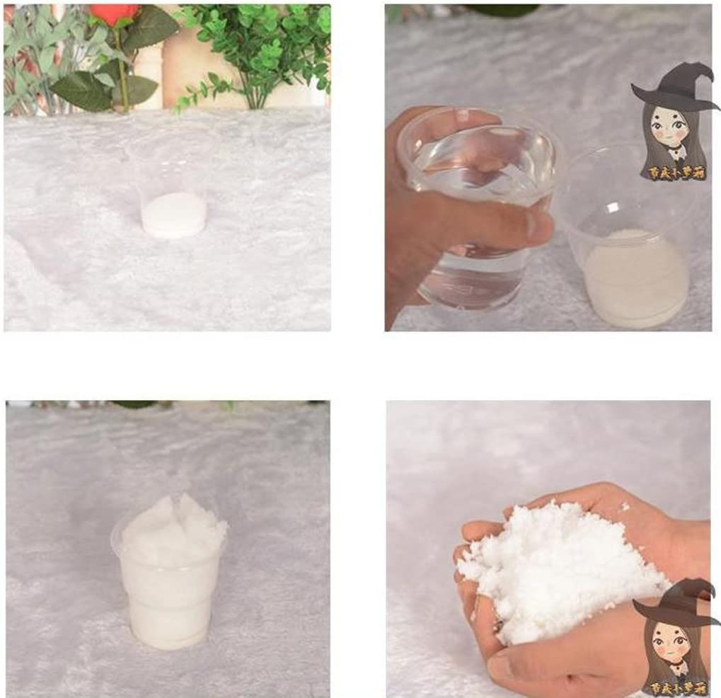 GaoCold 10 Pcs Fake Snow Instant Snow Powder Artificial Snow for DIY Cloud Slime Wedding Party Decoration Frozen Birthdays