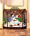 Let It Snow Fireplace Screens from The Lakeside Collection