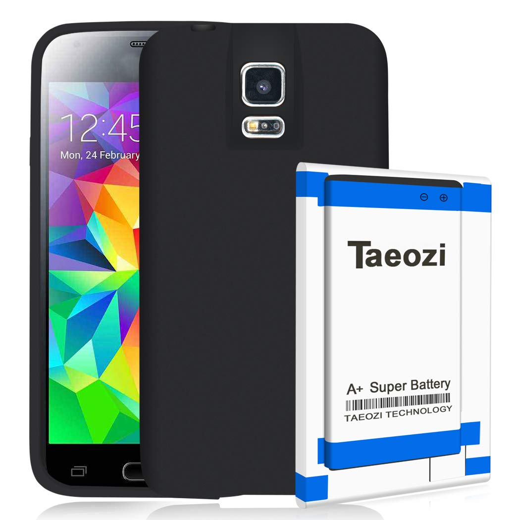 Galaxy S5 Extended Battery, 8800mAh Replacement Battery+Battery Back Cover+TPU Protective case for Samsung Galaxy S5 i9600 G900V G900A G900T G900P G900R4 G900BV by Taeozi