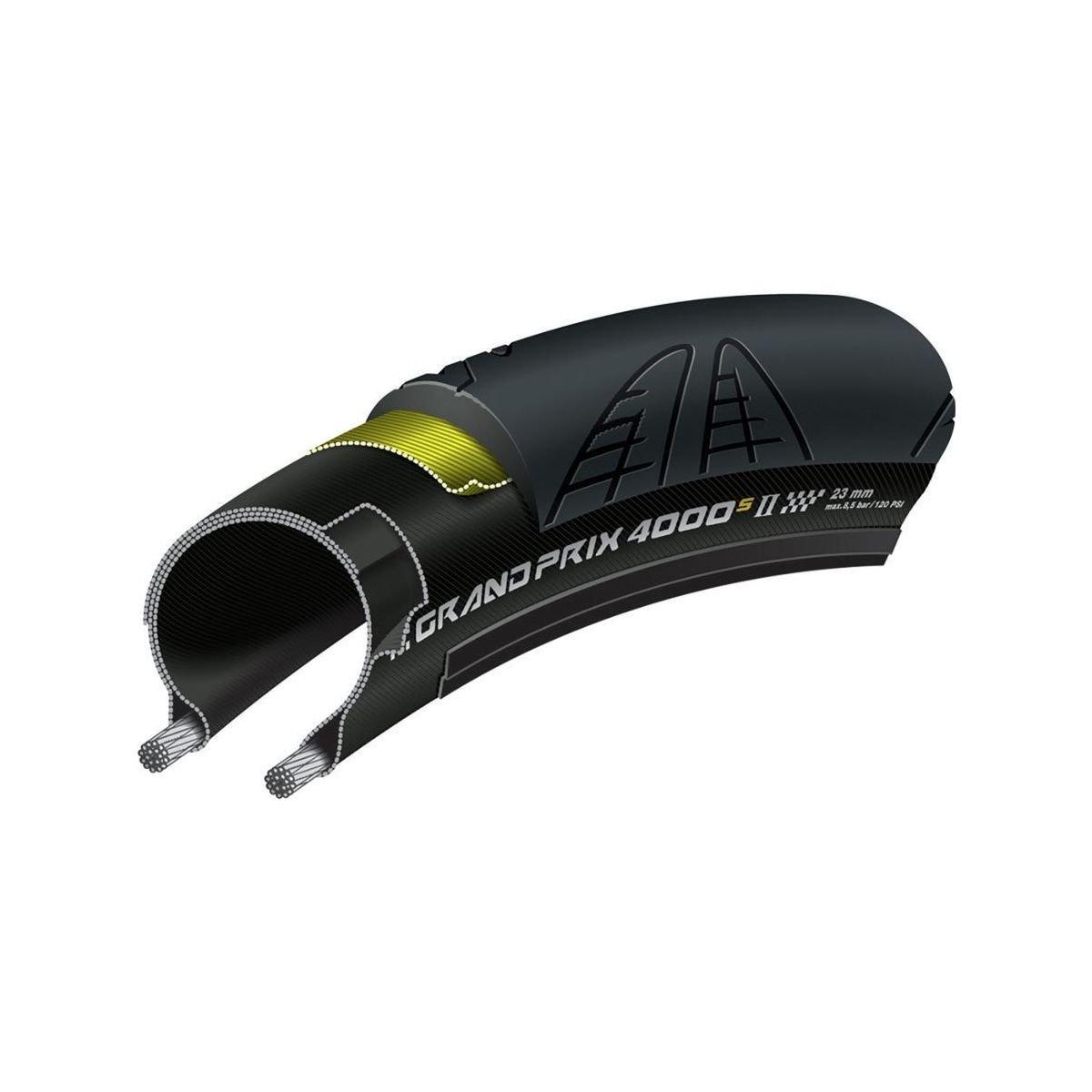 Continental Grand Prix 4000s II Cycling Tire, Black, 700 x 25C