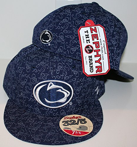 official photos 60d1b 2fd2f ... top quality zhats penn state nittany lion psu blue scribble 32 5 adult  mens fitted hat