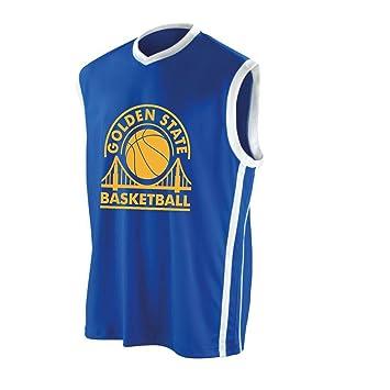 best service 3e915 50953 Golden State Basketball Jersey - Royal Blue/White, S: Amazon ...