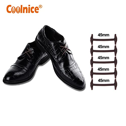adb5917bbd88d Coolnice No Tie Dress Shoe Laces for Men and Women, Silicone Waxed Thin  Oxford Round