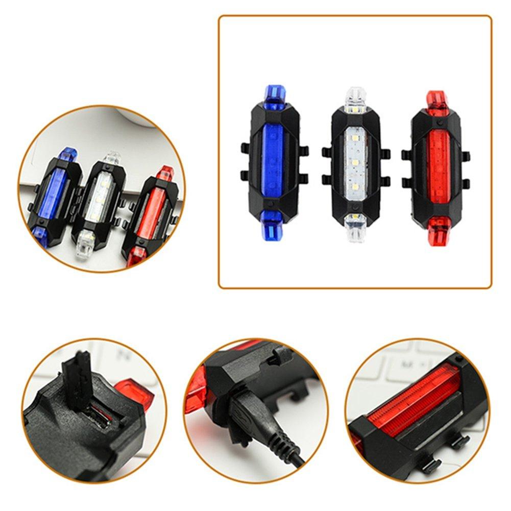 LED Feu arri/ère de v/élo lumi/ères Flash USB rechargeable V/élo de s/écurit/é lampe /étanche Yorgewd V/élo de s/écurit/é avertissement lampe