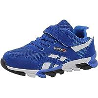 Zapatos De Tenis para Niños Unisex con Velcro Zapatos para Caminar  Ocasionales Zapatos Corrientes Ligeros Y 7b5b0647c333c