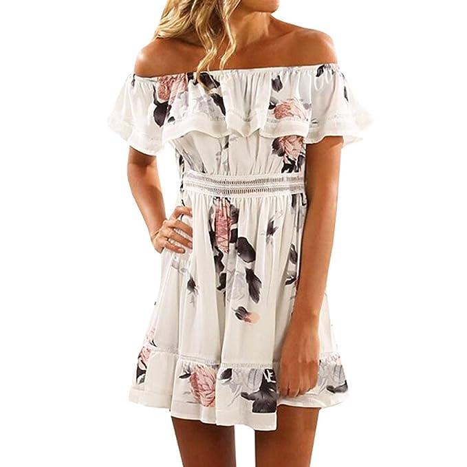 Sannysis falda tul mujer corta, Impresiones de mariposa (M, blanco ...