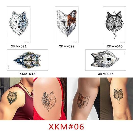 adgkitb Tatuaje Temporal Pegatina Falso Tatuaje Flores 5SetXKM 06 ...