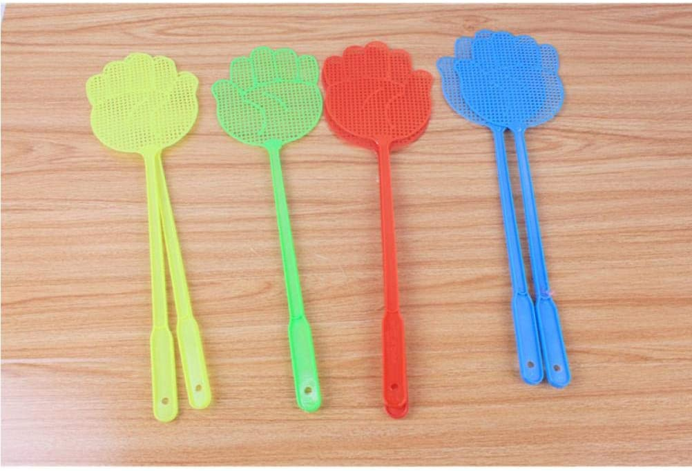 Aisoway Fly Swatter Beat Plastic Insect Flies Pat Slap Anti-mosquito Shoot Swatters Dorpshipping Tools