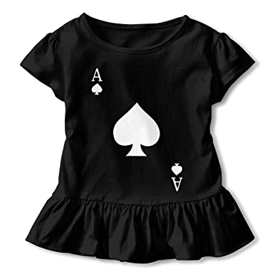 7834062dd005 Amazon.com  Toddler Baby Girl ACE Of Spades Poker 100% Cotton T ...