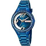 Calypso Montre Femme Trendy Analogique Quartz PU bleu Montre bracelet UK5679/E