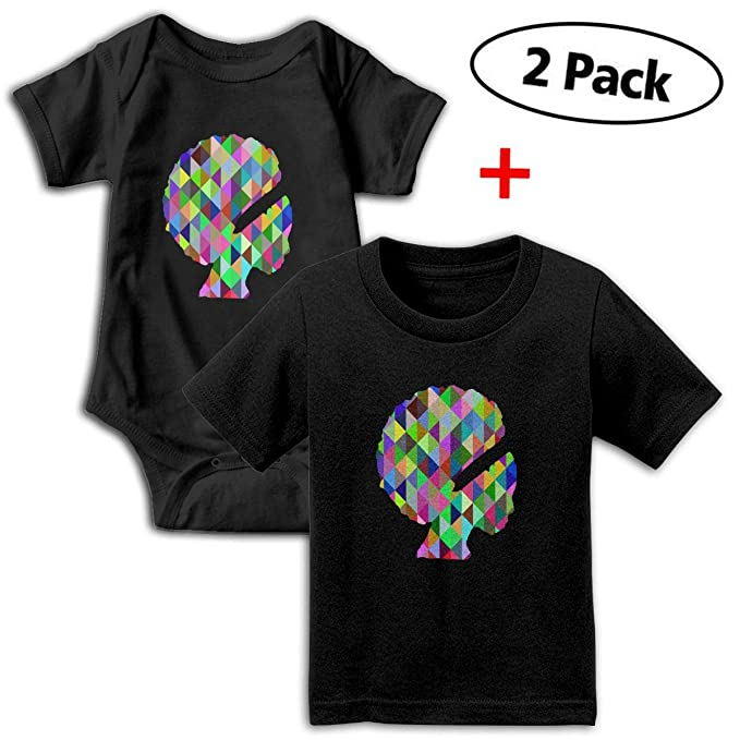 4b225ea2b0d1 Amazon.com  Prismatic African American Woman Baby Girls Boys Romper + Baby  T-Shirt Bodysuit Outfit Set  Clothing