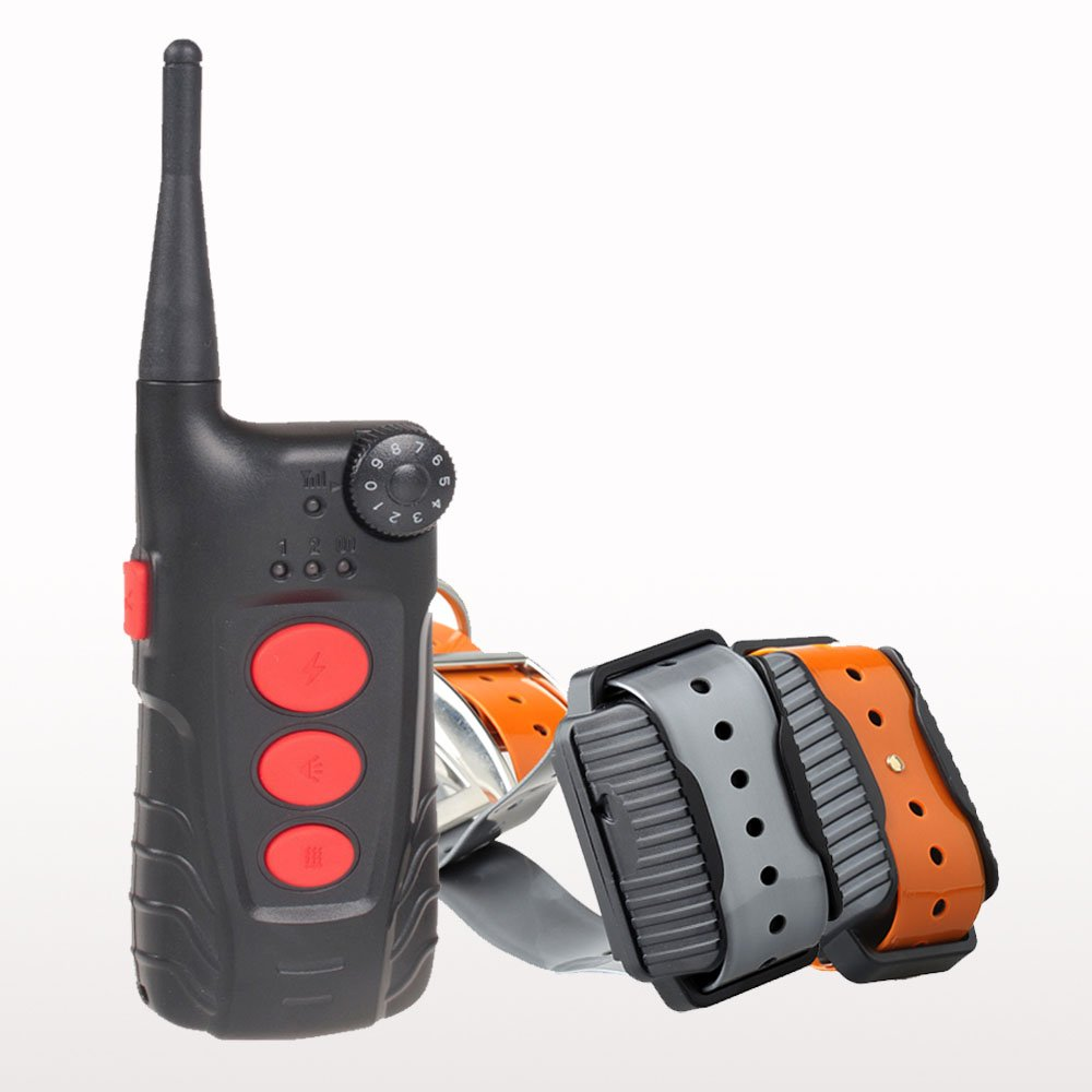Aetertek At-918 Rechargeable 100% Waterproof Remote Control 2 Dogs Training Shock Collar Auto Anti Bark Feature 600 Yard Training Range