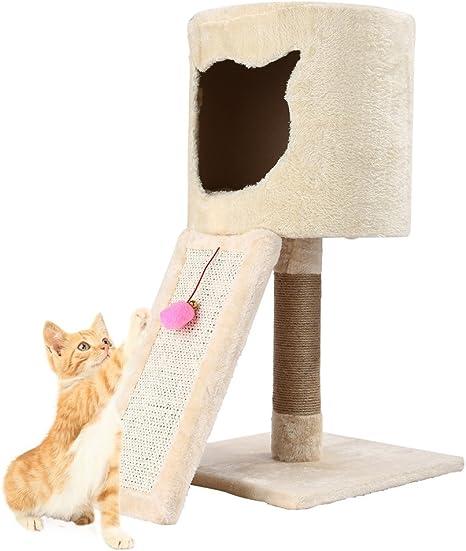 Homgrace gato escalada marco juguete casa mascota bola campana juguete mascota gato rascador poste