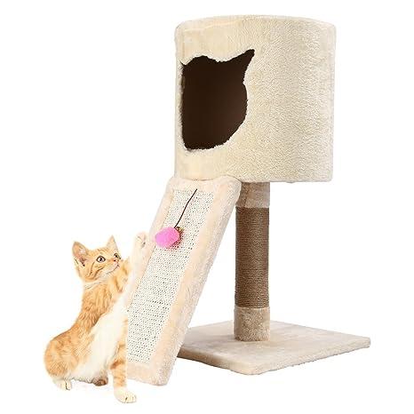 Homgrace Árbol para Gatos Juguete Rascador para Gatos para que los Gatos para Relajarse, Jugar
