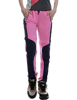 CHLNIX Damen Schnelltrocknend Leicht Wandern Hose Damen Zip