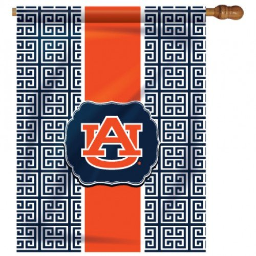 NCAA Auburn Tigers Greek Key House Flag   B00UXZFI72