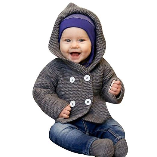 K-youth® Bebe Niña Niño Ropa Invierno Abrigos con Capucha Punto Jersey  Chaqueta Rebeca  Amazon.es  Ropa y accesorios c7368321350e