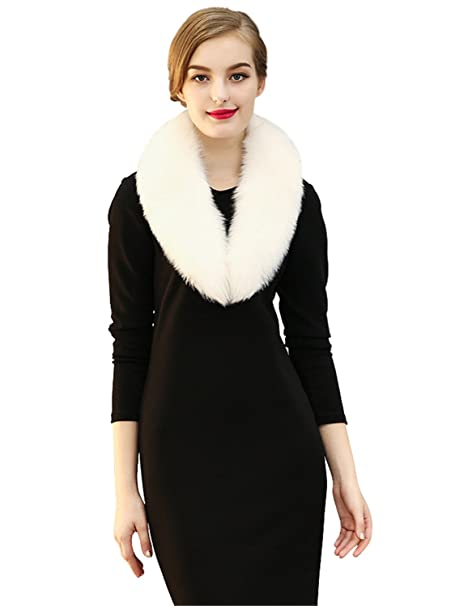 cdaea806c LITHER Faux Fur Wedding Collar Shawl Perfect for Wedding/party/show at Amazon  Women's Clothing store: