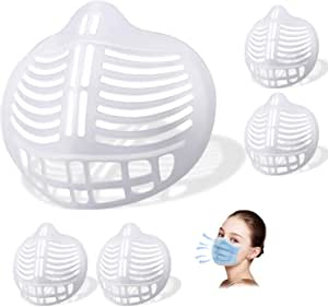 3D Mask Bracket,WETBEN Lipstick Protection Soft Stand for Comfortable Mask Wearing by Creating More Space for Breathing Washable Reusable, 5pcs
