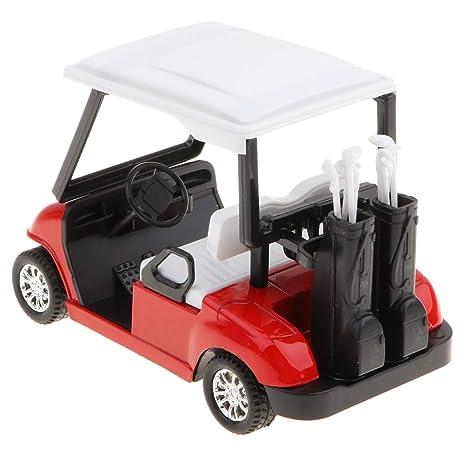KESOTO 1/20 Juguete de Carro de Golf de Simulación en Miniatura Tire hacia Atrás