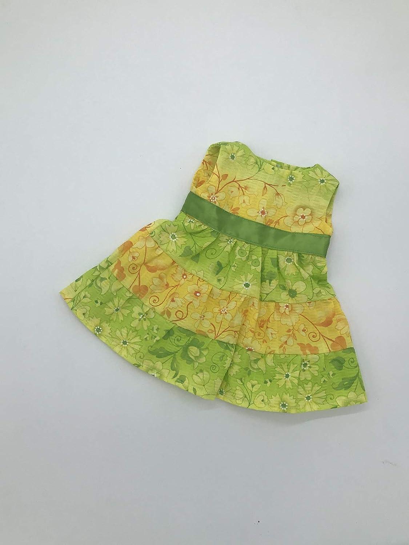 Handmade Doll Dress For 18 Inch American Girl Dolls Sleeveless Spring Sundress