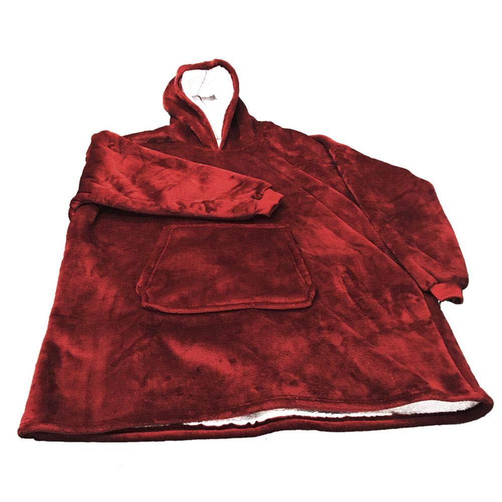 Copertina Con Le Maniche.Rosso Copertina A Maniche Vestito Con Cappuccio Coperta Con