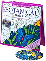 Read Botanical Garden Adult Coloring Book With Bonus Relaxation Music CD Included: Color With Music P.P.T