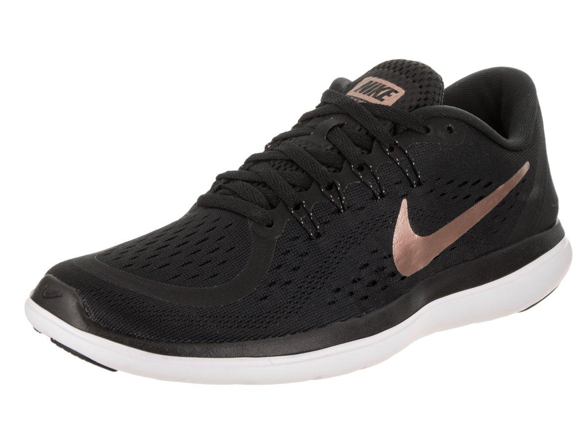 Nike Womens Flex 2017 RN Black/Mtlc/Red/Bronze Running Shoe 8.5 Women US
