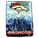 Denver Broncos 60 by 80 inch Blanket Silk Touch Citiscape Throw NFL Licensed by Northwest