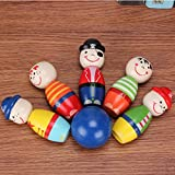 Wall of Dragon Children Toys Wooden Bowling Ball Skittle Funny Shape for Kids Game Wooden toys for children kids toy Bowling