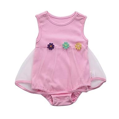 ec0122952 Dinglong Toddler Newborn Baby Girl Summer Clothing Birthday Flower ...