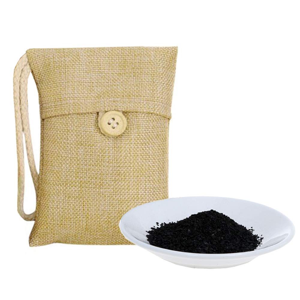 BBT-shop 1pcs Bag Activated Bamboo Charcoal Bags, Air Purifying Bags for Home and Car, Activated Carbon Air Freshener Odor Deodorant