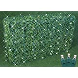 Commercial Grade Christmas LED Net Light Set, 4' X 6', Warm White, Green Wire, 150 Light