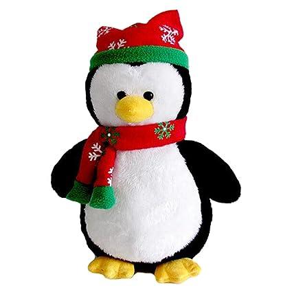 Amazon Com Cuddly Hat Scarf Black Penguin Doll 7 Soft Baby