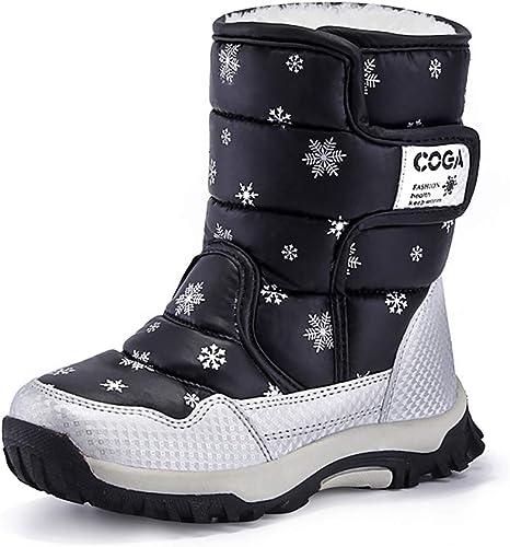 Scarpe Invernali Bambini Scarpa Stivali Foderati Stivaletti Velcro Scarpe caldo 30 a 36
