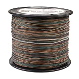 HERCULES Super Strong 1000M 1094 Yards Braided Fishing Line 100 LB Test for Saltwater Freshwater PE Braid Fish Lines 4 Strands - Camouflage, 100LB (45.4KG), 0.55MM