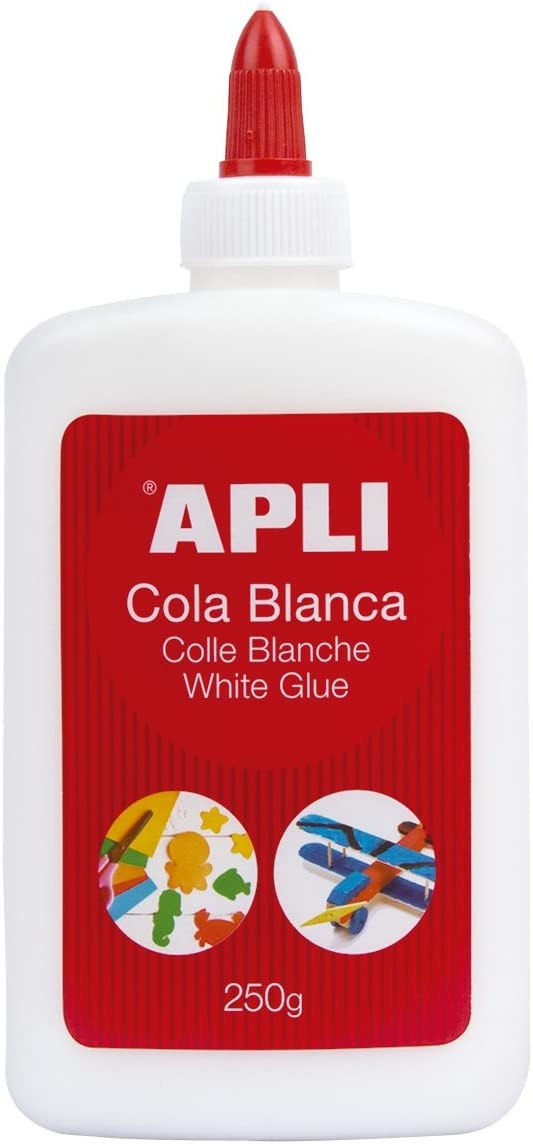 APLI 12850 - Cola, 250 g, color blanco