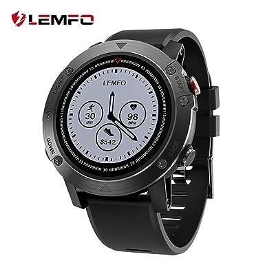 Lemfo les3 GPS reloj inteligente IP68 impermeable Smartwatch múltiples modos de deporte Monitor de frecuencia cardiaca